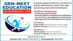 GEN-NEXT EDUCATION on 19th December at 11 am