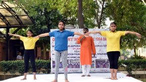 International Yoga Day Was Celebrated at Seth Anandram Jaipuria School