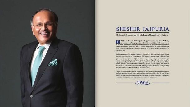 Mr Shishir Jaipuria Selected Among the 21 Leaders Transforming Indian Education by Education World