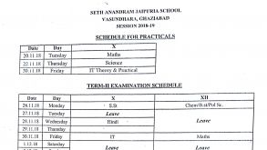 TERM-II Examination Schedule (X&XII)