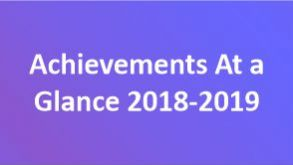 Achievements At a Glance 2018-2019