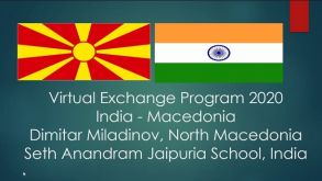 VIRTUAL EXCHANGE PROGRAM INDIA – MACEDONIA