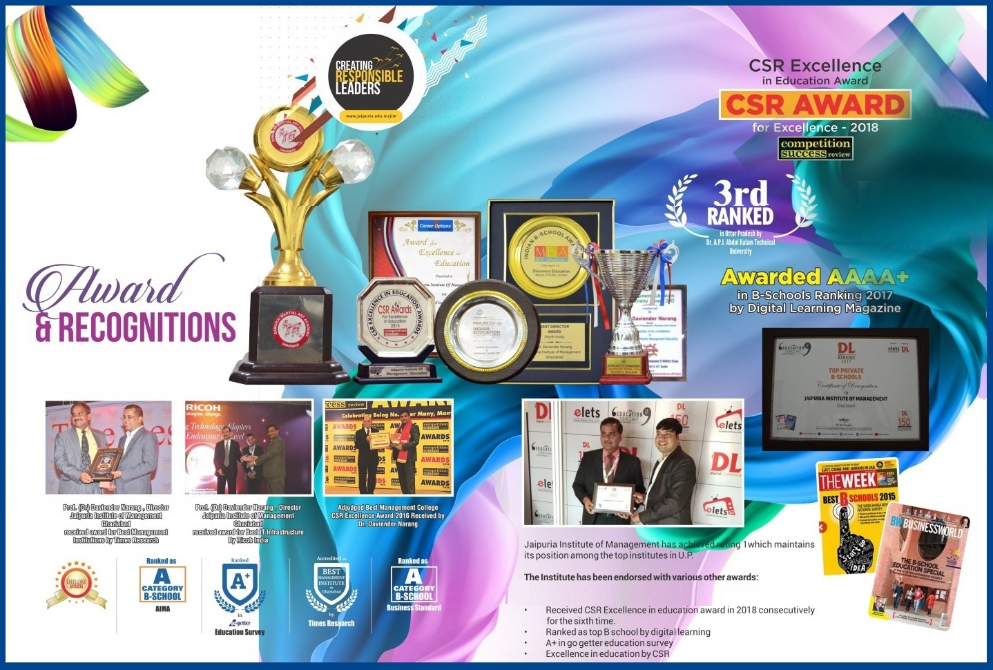 Jaipuria Institute of Management Awards