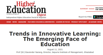 Trends in Innovative Learning: The Emerging Face of Education