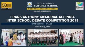 Frank Anthony Memorial All India Debate Competition 2019