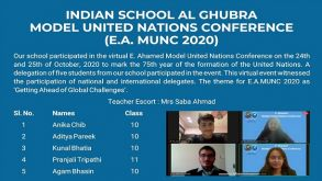 Indian School Al Ghubra – Model United Nations Conference ( E.A. MUNC 2020)