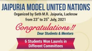 Report on Event MUN, Lucknow held from 23rd July to 25th July 2021