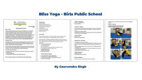 BLISS YOGA – BIRLA PUBLIC SCHOOL IN COLLABORATION WITH ROUND SQUARE