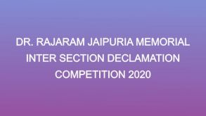 DECLAMATION COMPETITION  2020