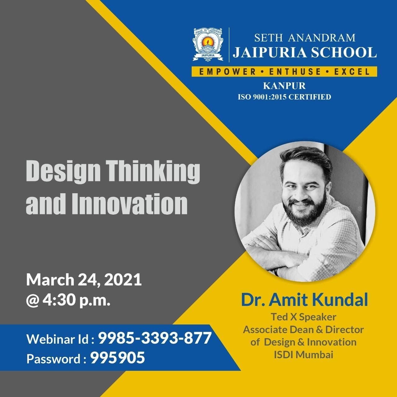 REPORT OF DESIGN THINKING AND INNOVATION TALK