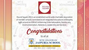SETH ANANDRAM JAIPURIA SCHOOL KANPUR BECOMES ROUND SQUARE GLOBAL MEMBER!