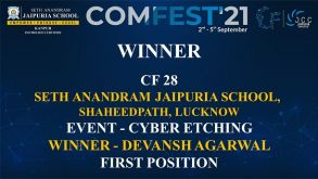 Students of Seth Anandram Jaipuria School, Lucknow, shine at COMFEST