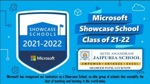 Jaipuria School Lucknow- Bags MICROSOFT SHOWCASE SCHOOL BADGE for the Third Consecutive Year