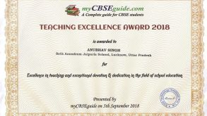 Three Teachers of SAJS Lucknow get The Teaching Excellence Awards-2018