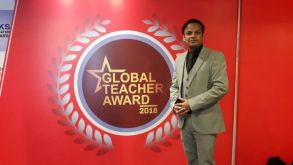 Mr. Pankaj Rathore Wins the Global Teacher Award-2018