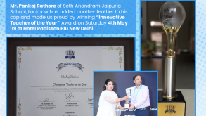 Mr. Pankaj Rathore Wins the Innovative Teacher Of The Year Award-2019