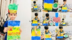 Pruthvij Tiwari of SAJS Lucknow Ranked 1st in Creative Kid's Competition