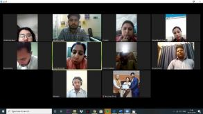 Online Peer learning through zoom pictures