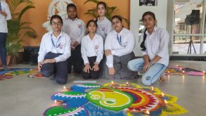 Interhouse Rangoli Making Competition