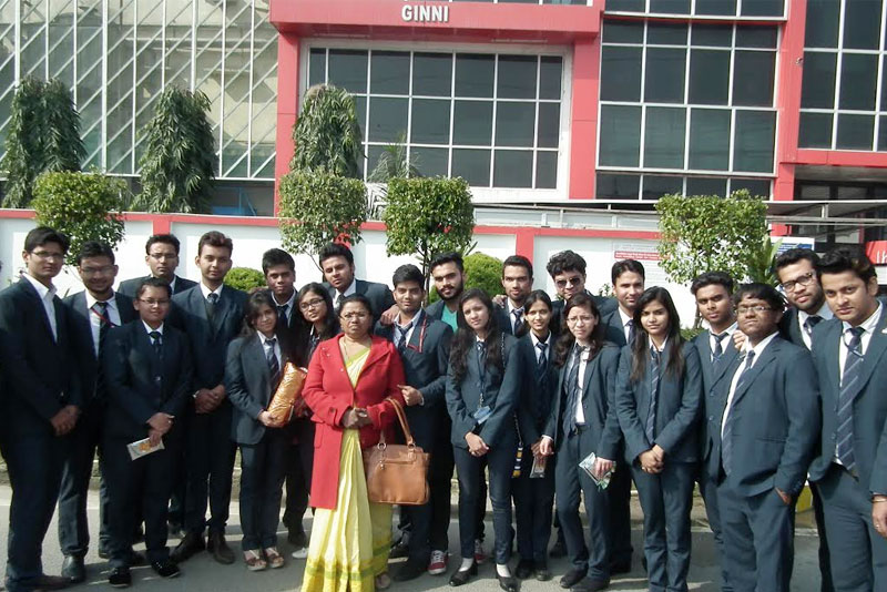 Jaipuria PGDM 1st Year Industrial Visit to Ginni Filaments Ltd. Haridwar