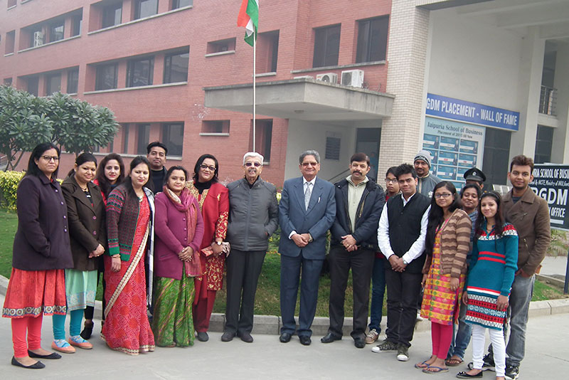 Jaipuria School of Business, Indirapuram, Ghaziabad Celebrated 67th Republic Day at campus