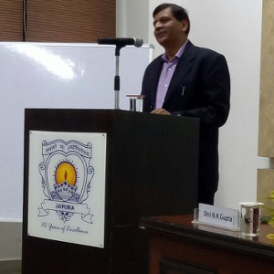 Guest Talk on Corporate Finance and GST by Mr N. K. Gupta