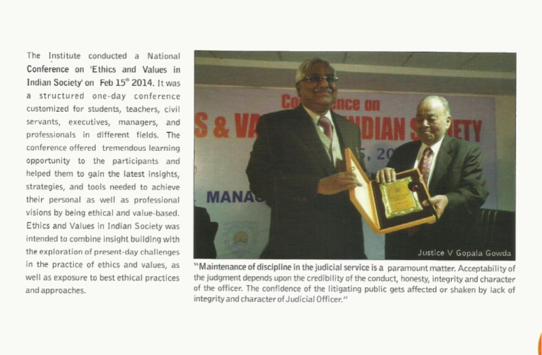Conference on Ethics & Values in Indian Society | Jaipuria