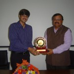 Dr S K Mahapatra gave the memento to Guest Speaker, Mr Ashish Gupta