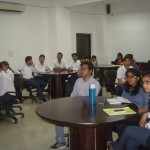 The PGDM students listened attentively the lecture given by Mr Ashish Gupta
