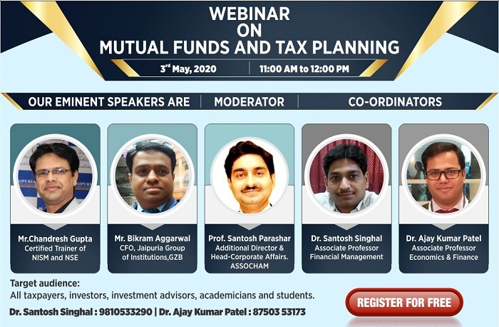 Webinar Mutual Funds and Tax Planning